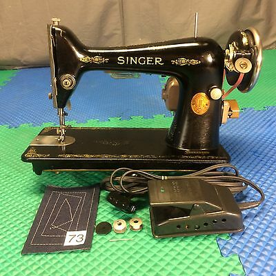 Serviced Works Perfect Antique 1926 Singer 66 Heavy Duty Electric Sewing Machine