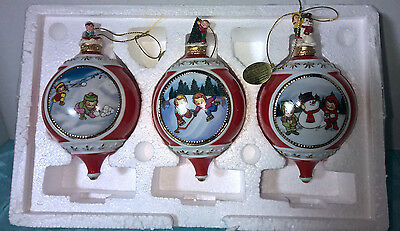 Campbell's Kids ~ Bradford Exchange ~ Set Of 3 Christmas Ornaments ~ New