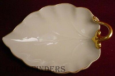 """LENOX china WOODLEAF COLLECTION Leaf Shaped Candy Dish - 7-1/4"""""""
