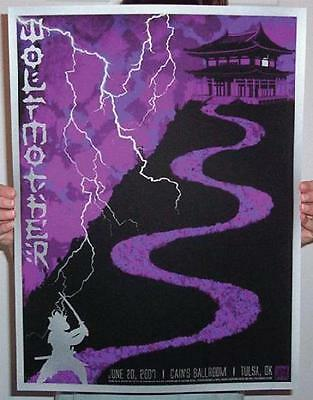 Wolfmother Tulsa 2007 Slater Concert Poster Silkscreen Original