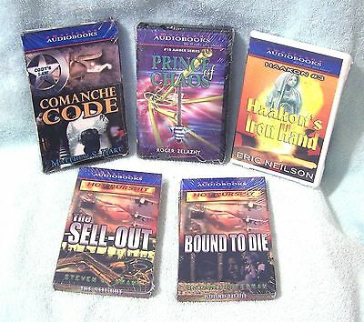 Lot Of 5  New Cassette Audiobooks - Mysteries, Science Fiction & More