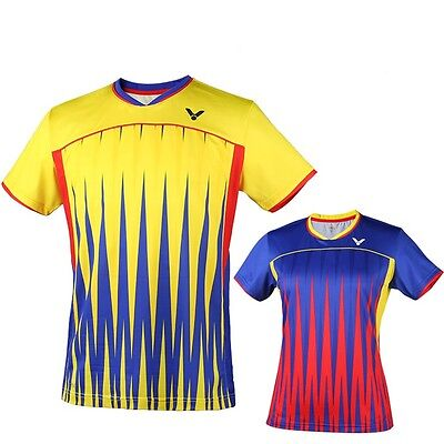 2016  Victor men's & Women's Tops table tennis clothing Badminton Only T-shirt