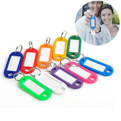 Random Color 50  Pcs Color Key ID Labels Tags Chain with Key Ring Split Rings