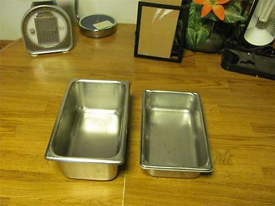 2 Commercial Vollrath  Stainless Steam Table Pans-Deli-Good Used Condition