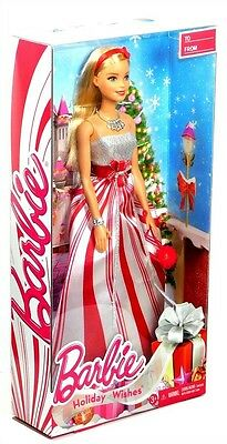 "2016 Holiday Wishes Christmas Barbie 11"" Fashion Doll NRFB IN HAND!"