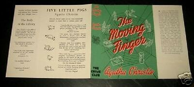 THE MOVING FINGER - 1943 by Agatha Christie - Facsimile Dustjacket Only
