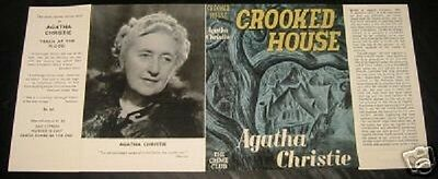 CROOKED HOUSE - 1949 by Agatha Christie - Facsimile Dustjacket Only