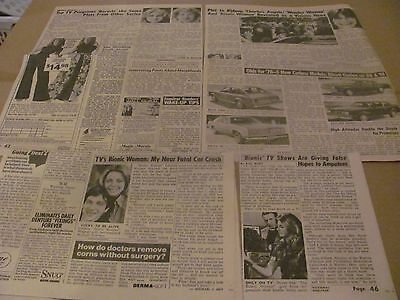 Lindsay Wagner  Bionic Woman Star       Clippings   Wow   #1001