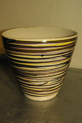 RYE CINQUE PORTS POTTERY * SQUASHED BOWL * 1950s *VG Condition