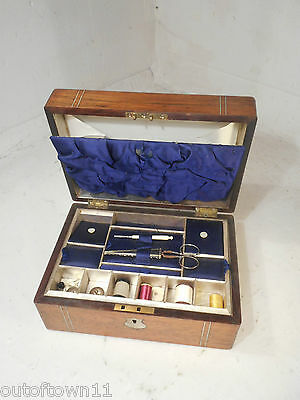 Antique Rosewood Sewing Box   ,   ref2311