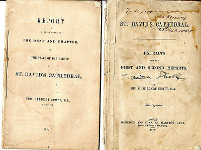 St. DAVID'S CATHEDRAL FABRIC - REPORTS BY SIR G.GILBERT SCOTT (1862 and 1873)