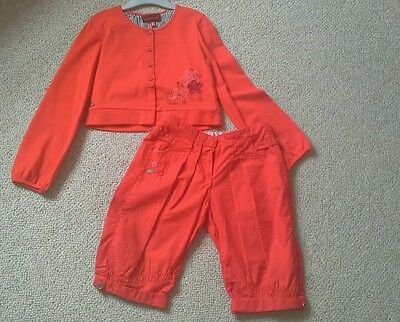 Catimini Girls Outfit Size Age 7, 120 Cm, crop trousers and jacket. Worn once