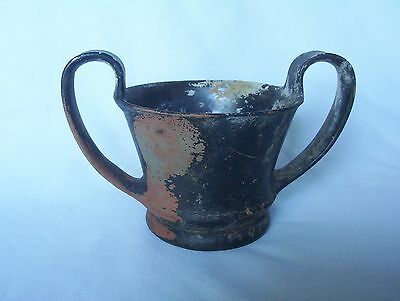 Ancient Greek Pottery Kantharos c. 5th - 4th century B.C.