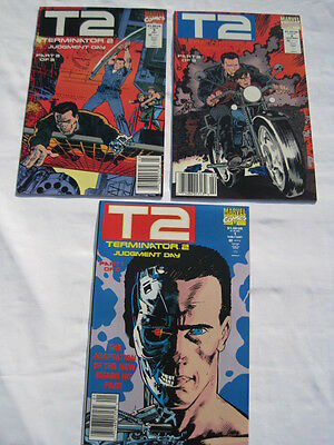 "TERMINATOR 2, T2 :  ""JUDGEMENT DAY"" COMPLETE 3 ISSUE M/SERIES.1,2,3. Marvel.1991"