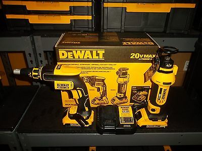 BRAND NEW Dewalt DCK263D2 20V Combo Cut Out Kit DCF620 + DCS551 DCB203 DCB112