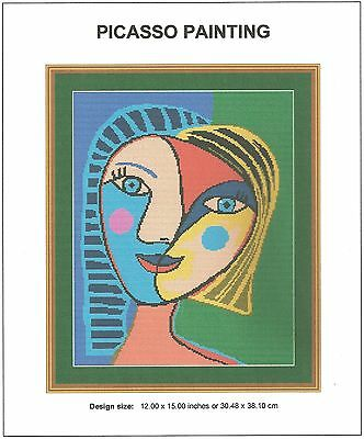 Picasso Painting Cross Stitch CHART