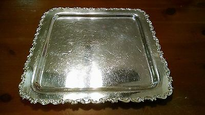 """Antique Vintage Whiting Sterling Silver Tray 10"""" x 10"""" 540g"""