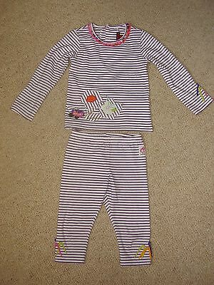 Girls Catimini top & leggings set good used condition age 4yr or 102cm
