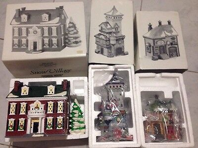 DEPARTMENT 56 SNOW VILLAGE/ NORTH POLE SERIES Lot Of 3 BUILDINGS