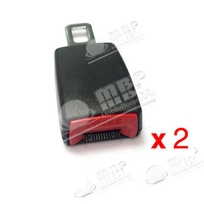 """2x Auto Extension Safety Seat Belt Lock """"21mm Buckle"""" Extender for Renault Audi"""