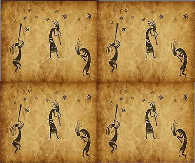 Southwest Kokopelli # 5 Shades Of Brown Computer Mouse Pad 9 X 7