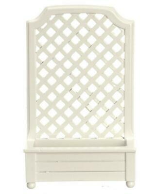 Dolls House White Planter with Trellis Garden Screening Miniature Accessory