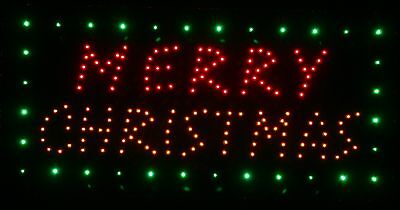 Merry Christmas lights led lighted sign home decor hanging color message display