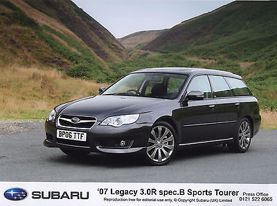 Subaru Legacy 3.0R Spec B Sports Tourer Press Photographs - 2007