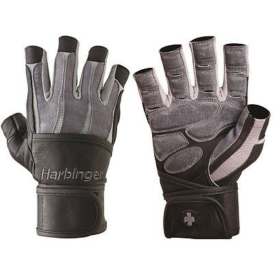 Harbinger 1310 BioForm Gloves with WristWrap - Gray - Pair - Large