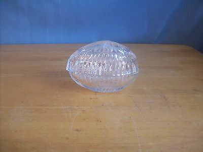Clear Glass Crystal? Egg Shaped Candy Trinket Dish