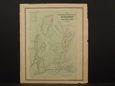 Connecticut, New Haven County Map 1868 Fair Haven Reservoirs, Maltby Park !Z3#58