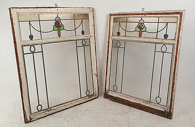 Vintage Stained Glass Window Panel (2920)NJ