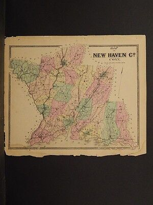 Connecticut, New Haven County Map 1868 !Z3#59
