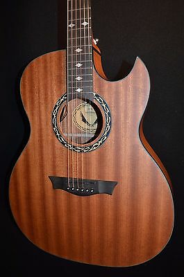 Dean Exhibition Satin Natural Thin Body Acoustic Electric Guitar - Ships Free!