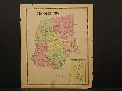 Connecticut, New Haven County Map 1868 Town of Middlebury !Z3#60