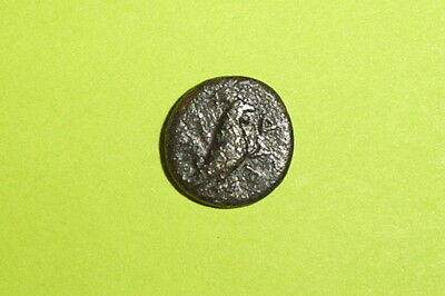 Authentic Ancient GREEK COIN cockerel TROAS DARDANUS 400 BC-300 BC horseman old