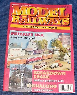 Model Railways June 1992 - Metcalfe Usa