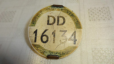 Vintage Old Public Service Vehicle Conductor Badge DD16134 Metrovick Traffolyte