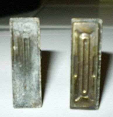 Vintage Brass drawer cabinet pulls 1 inch library card catalogue handles set of