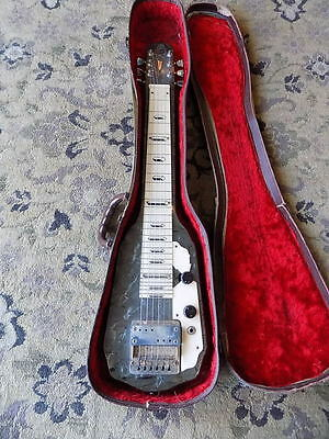 1950s Silvertone Artist lap steel electric guitar GRAY PEARLOID vintage USA