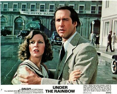 Under the Rainbow original lobby card Carrie Fisher Chevy Chase in street