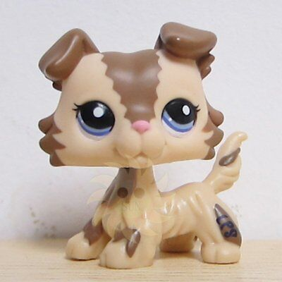 Littlest Pet Shop LPS Figure Loose Toy #2210 Brown and Caramel Collie Dog