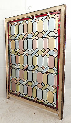 Large Vintage Stained Glass Window Panel (3103)NJ