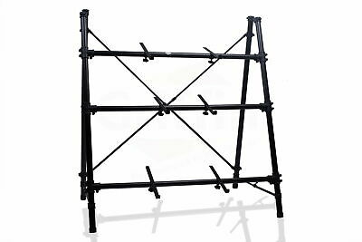 Triple Keyboard Stand 3-Tier A-Frame Holder Studio Stage Mixer Turntable DJ
