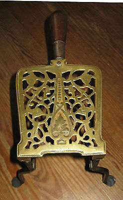 Antique 19thC Victorian Brass Wrought Iron Penny foot  Kettle Stand Footman