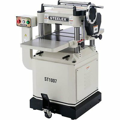 "Steelex ST1007 15"" Planer w/Mobile Base & Cast Iron Wings"