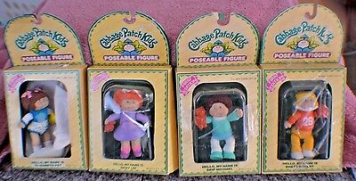 **Lot of 4 Vintage Cabbage Patch Kids Poseable Figures **New in Box**
