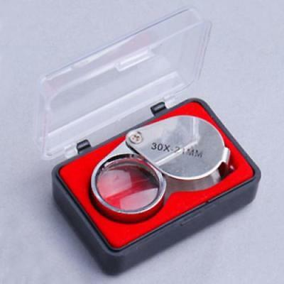 Jewelry Loupe Magnifier Loop Glass Tool 30 Power X 21 for Coin Stamps