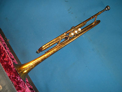 KORIOT Old Trumpet beautiful Hammered and etched design abounds horn
