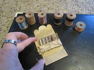 10 Spools Silk Thread wooden spools corticelli paragon richardson milady's